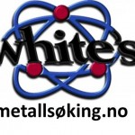 White metallsøking logo